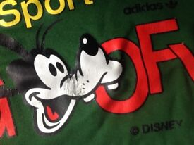 Adidas tracksuit top(Disney goofy logo) Size small