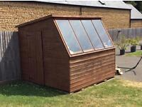 Wooden Garden Potting Shed - 7ft 10 x 7ft 10 very good condition