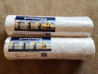 FREE - Two rolls of Superfesco wallpaper - Still in the wrapping.