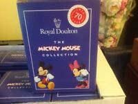 FROM ROYAL DOULTON MICKEY MOUSE COLLECTION 70TH ANNIVERSARY OF DISNEY SIX FIGURINES