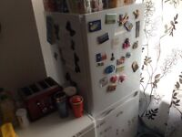 Fridge freezer in white 12months old
