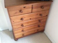 Two over Four Drawers Solid Pine Chest