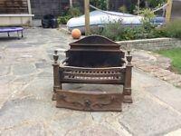 Cast iron fire grate for open fire