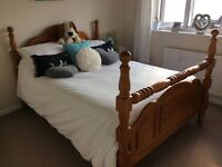 Large Pine Double Bed in Excellent condition.