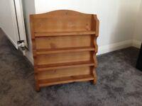 Pine wall spice rack
