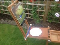 Artist's donkey easel, sit while you paint. Very scarce item!