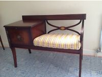 Selection of original dark wood furniture