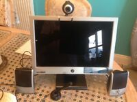 COMPUTER MONITOR, SPEAKERS, CAMERA, & MICROPHONE