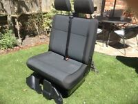VW T6 TRANSPORTER DOUBLE PASSENGER SEAT NEARLY NEW