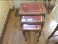 Vintage English nesting tables,set of 3.