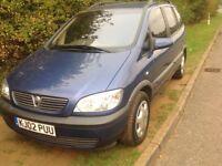 Vauxhall Zafira 2002 1.8 petrol