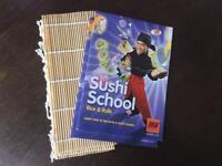 Sushi making booklet & bamboo mats (x2)
