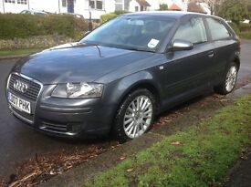 Audi A3 1.6 SE 3dr Man 2007 (07 Reg) - 1 Owner Financed Arranged FSH Price £4,205 p/x considered