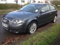Audi A3 1.6 SE 3dr Man 2007 (07 Reg) - 1 Owner Financed Arranged FSH Price £4,205 p/x considered