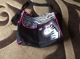 Zebra changing bag