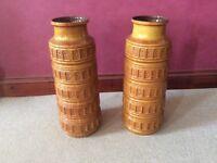 2 West German retro vases in perfect condition