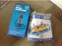 Inflatable Boat & hand pump