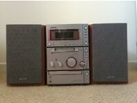 Sony CD, mini disc and tape player
