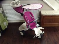 Smart Trike Fushia Pink with rain over only 9 months old