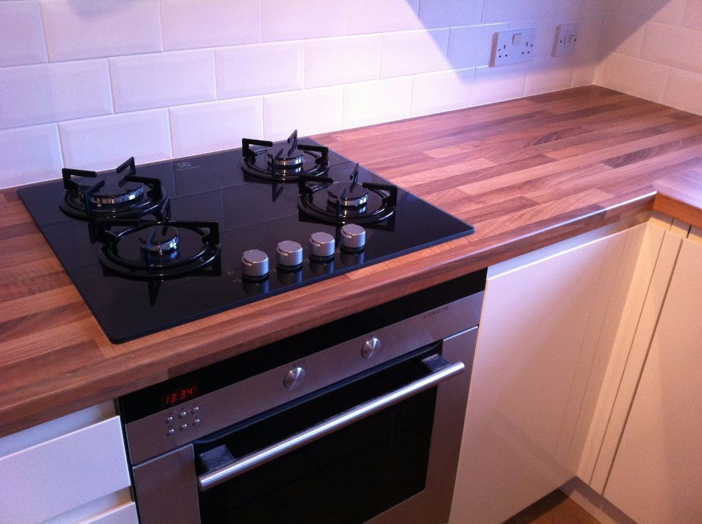 New Egger Walnut Butchers Block Laminate Kitchen Worktop