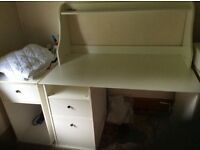 Study table with storage drawer units in excellent condition