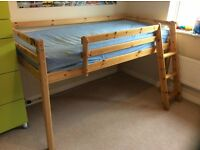 Mid Sleeper Bed With Tent and Slide
