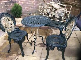 Aluminium garden set