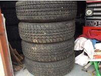 Bridgestone tyres 255/65/R17