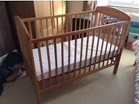 Mamas and Papas cot + mattress - just £25