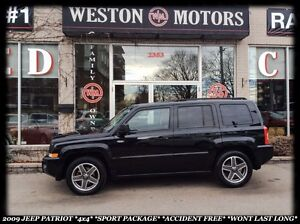 2009 Jeep Patriot *4X4 *SPORT PACKAGE *ACCIDENT FREE *WONT LAST
