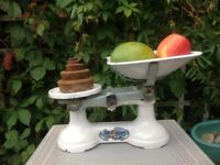 Vintage 'The Viking' weighing scales with weights