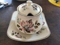 Midwinter Stylecraft Staffordshire Sugar Bowl & Plate