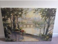 Colourful French scene canvas