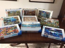 Collection of 9 beautiful high quality jigsaw puzzles.