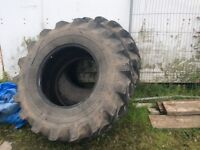 Two rear JCB tyres 18.4.26