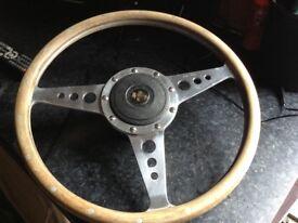 Mg wood rim steering wheel.original moto lita