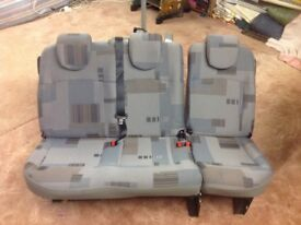 Van rear seat. From Renault Kangoo.