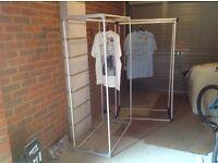 2 clothes rails for sale (3 hanging rails on each)