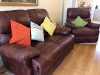 Settee and arm chiar and foot stall excellent condition