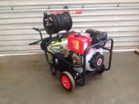 3,000P.S.I. Diesel Pressure washer 100 feet hose reel Free Whirlaway Cleaner and Turbo Nozzle