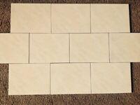 Cream mottled wall tiles