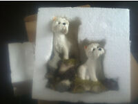3 SEPERATE WESTIE DOG COLLECTABLE FIGURINES - SHERRATT & SIMPSONS - NEW -