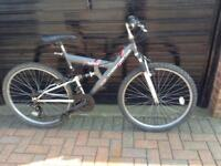 UNISEX MOUNTAIN BIKE WITH FULL SUSPENSION.
