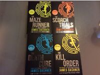 The Maze Runner trilogy and Prequal for sale (four books in total)