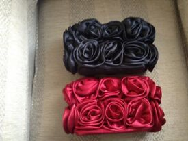Red and a black ruffle flowered Interchange 2in1 bag not used