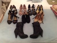 Seven pairs of ( good quality ) ladies shoes plus one pair of boots size 4 ...the lot for £20
