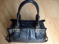Designer ' Gigi ' Black Leather Handbag - Very good clean condition