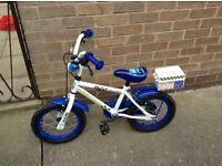 "Boys 14"" police patrol bike ( Halfords)"
