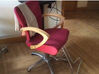 Good condition laides hairdressing chairs, mirrors, dryer, trolls, and back wash sinks.