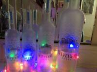Belvedere vodka bottles